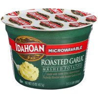 Idahoan Roasted Garlic Mashed Potatoes - Gluten-Free, Real Idaho Potatoes - 1 Cup (1.5-Ounces)
