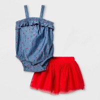 Baby Girls' Americana Tutu Top & Bottom Set - Cat & Jack™ Red