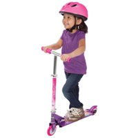 Disney Princess Girls' Inline Folding Kick Scooter by Huffy, Pink