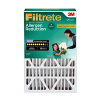 Filtrete 16x25x4, Allergen Reduction Deep Pleat HVAC Air and Furnace Filter, 1200 MPR, 1 Filter