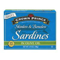 Crown Prince Skinless Boneless Sardines in Olive Oil, 3.75 oz