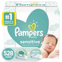 Pampers Sensitive Baby Wipes, 528 Count