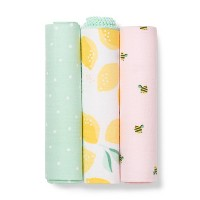 Muslin Swaddle Blanket Honeybee 3pk - Cloud Island™ Pink/Yellow