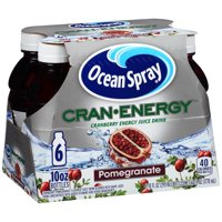 Ocean Spray Cran Energy Pomegranate Juice Drink, 10 Fl Oz, 6 Count