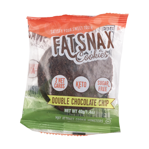 Fat snax Double Chocolate Chip Cookies, 1.4 oz