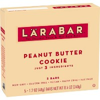 Larabar Fruit And Nut Bar Peanut Butter Cookie - 5ct