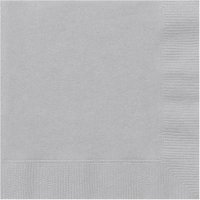 Silver Party Lunch Napkins, 24ct