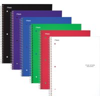 Five Star Wirebound Notebook, 1 Subject, Wide Ruled, 10 1/2' x 8', Assorted Colors (05057)