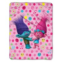 "DreamWorks Trolls Happy Smiles 46"" x 60"" Micro Raschel Throw, 1 Each"