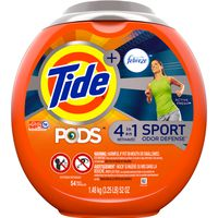 Tide Pods Plus Febreze, Sport Odor Defense Liquid Laundry Detergent Pacs, Active Fresh Scent
