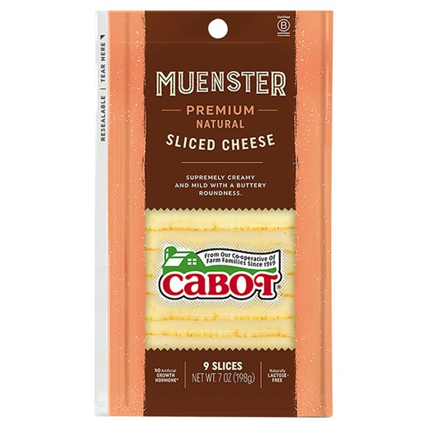 Cabot Cheese Muenster Cheese Slices