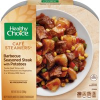 Healthy Choice Cafe Steamers Frozen Dinner Barbecue Seasoned Steak with Potatoes 9.5 Ounce