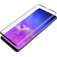 Blackweb Curved Hybrid Screen Protector with Error-Free Application Tray for Samsung Galaxy S10
