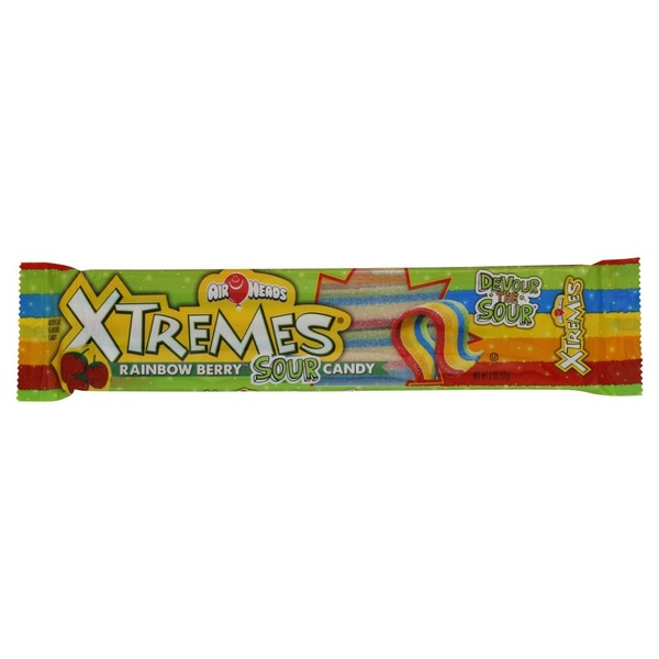 Airheads Candy, Sour, Rainbow Berry