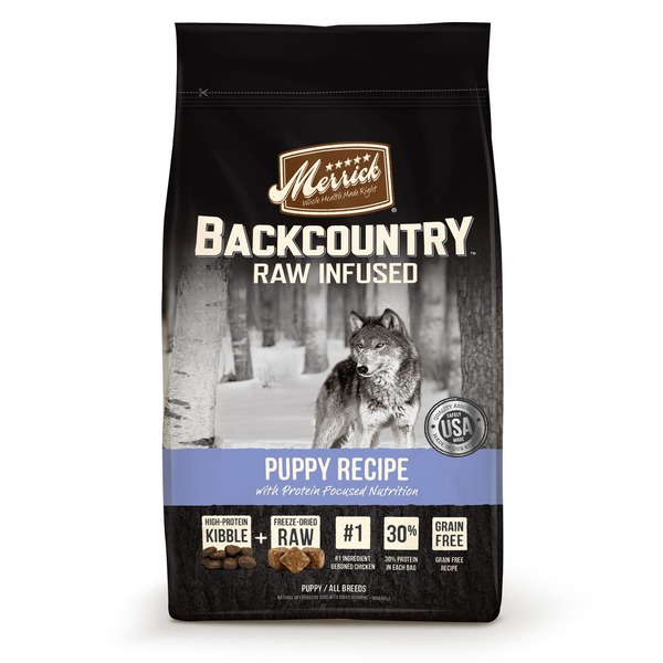 Merrick Backcountry Raw Infused Puppy Recipe With Protein Focused Nutrition