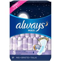 Always Maxi Size 5 Extra Heavy Overnight Pads With Wings