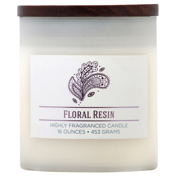 MVP Group Wellness Floral Resin Candle