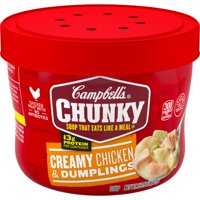 Campbell's Chunky Microwavable Soup,Creamy Chicken & Dumplings Soup, 15.25 Ounce Bowl