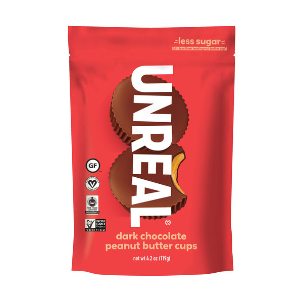 Unreal Dark Chocolate Peanut Butter Cups, 4.2 oz
