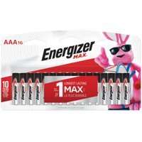 Energizer MAX AAA Batteries, Alkaline Triple A Batteries (16 Pack)
