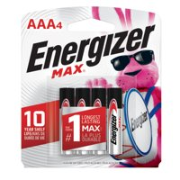 Energizer MAX AAA Batteries, Alkaline Triple A Batteries (4 Pack)