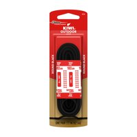 KIWI Outdoor Round Laces, Black, 72 in, 1 pair