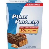 Pure Protein Bars, Chocolate Peanut Caramel, 20g Protein, 1.76 Oz, 6 Ct