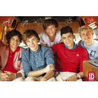 One Direction Self Stick Band Poster