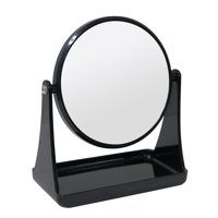 Mainstays Double-Sided Black Mirror with Tray Base, 1 Each