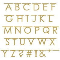 Create Your Own Gold Faux Glitter Banner - Spritz™