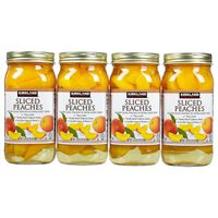 Kirkland Signature Sliced Peaches, 4 x 24 oz