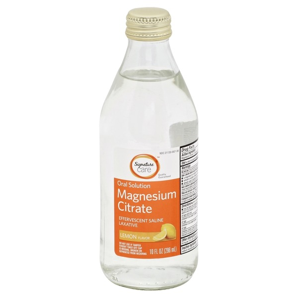 Signature Care Magnesium Citrate Oral Solution, Lemon