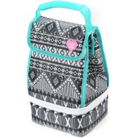 Arctic Zone Lunch Bag Plus, Black and White Aztec