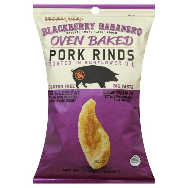 Southern Recipe Foods Pork Rinds, Blackberry Habanero, Oven Baked, Small Batch
