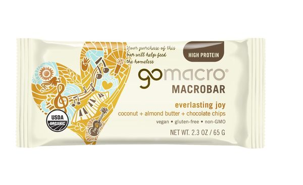 Gomacro Everlasting Joy Coconut + Almond Butter + Chocolate Chips Macrobar, 2.3 oz