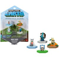 Minecraft Earth Boost Mini Figure 4-Pack, NFC-Chip Enabled, for Minecraft Augmented Reality Earth Game