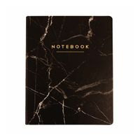 Eccolo Black Marble World Traveler Large Composition Notebook