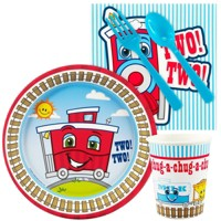 16ct Two-Two Train 2nd Birthday Snack Pack