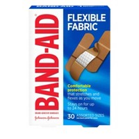 Band-Aid Flexible Fabric Brand Adhesive Bandages - 30ct