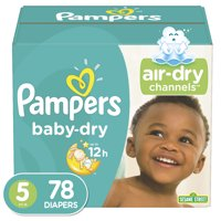 Pampers Baby-Dry Extra Protection Diapers, Size 5, 78 Ct