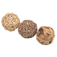 Rosewood Naturals Trio of Fun Balls Animal Toy, Small