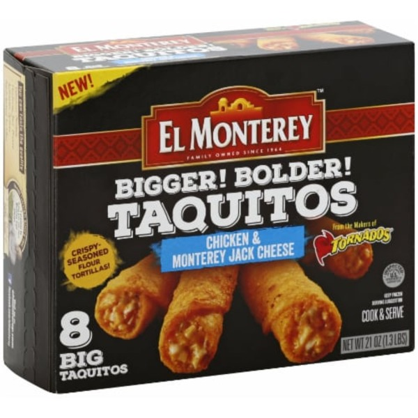El Monterey Taquitos, Chicken & Monterey Jack Cheese, Big