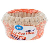 Great Value Natural Basket Coffee Filters, 100 count