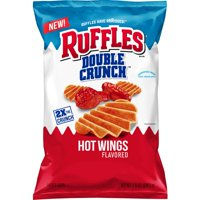 Ruffles Double Crunch Hot Wings Flavored Potato Chips, 7 3/4 oz