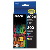 Epson 802XL High-capacity Black/Color Combo Pack Ink Cartridges