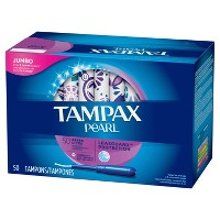 Tampax Pearl Ultra Unscented Plastic Tampons - 50ct