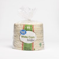"Great Value 6"" White Corn Tortilla 80ct"