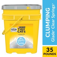 Purina Tidy Cats Clumping Cat Litter; Glade Clear Springs Multi Cat Litter