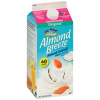 Blue Diamond Almond Breeze Unsweetened Almond milk Coconut Milk Blend, 0.5 gal