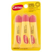 (3 Pack) Carmex Origninal Moisturizing Medicated Lip Balm, .35 Ounce Tubes